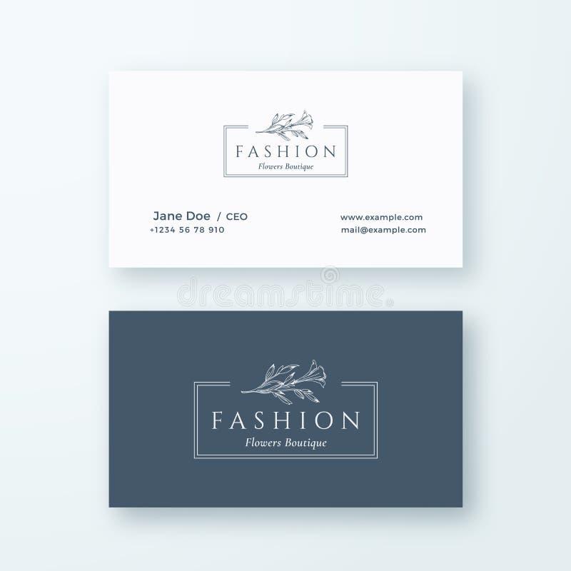 Muestra del vector de la moda o plantilla abstractas de la tarjeta del logotipo y de visita Mofa realista inmóvil superior para a libre illustration