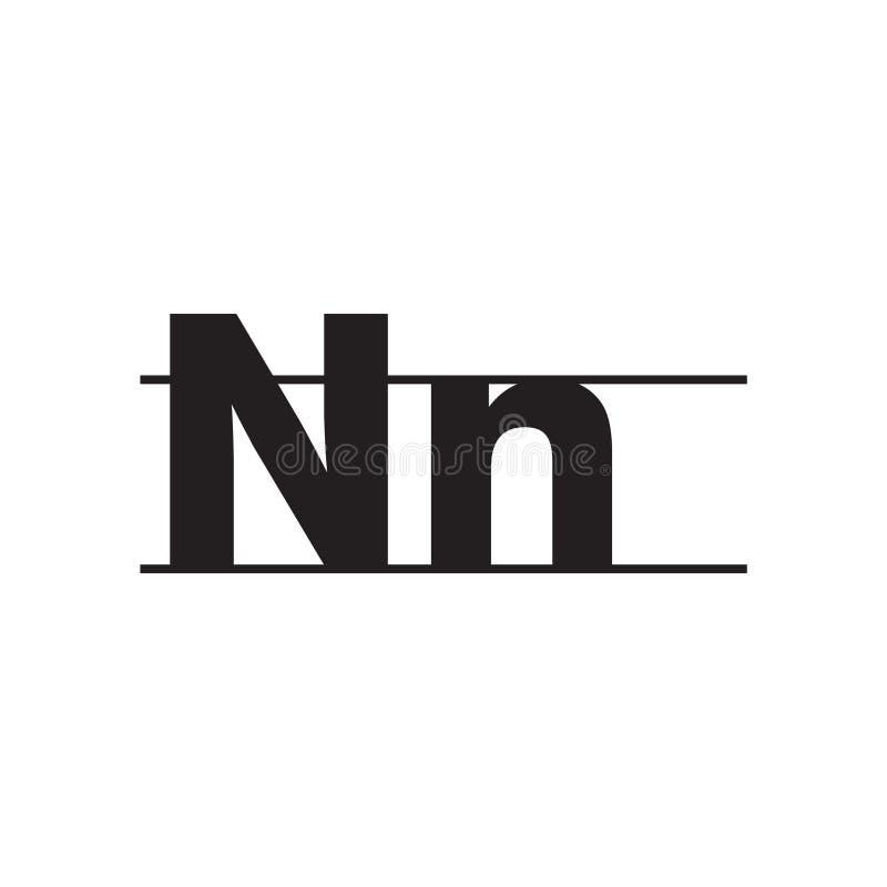 Muestra del vector del icono de la letra mayúscula y minúscula e isola del símbolo stock de ilustración
