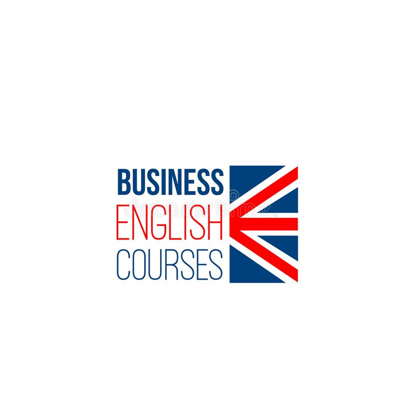Muestra del vector para los cursos ingleses de negocio libre illustration