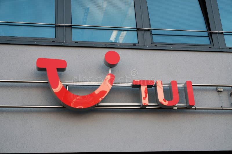 Muestra del viaje y de la compañía Tui del turismo imágenes de archivo libres de regalías