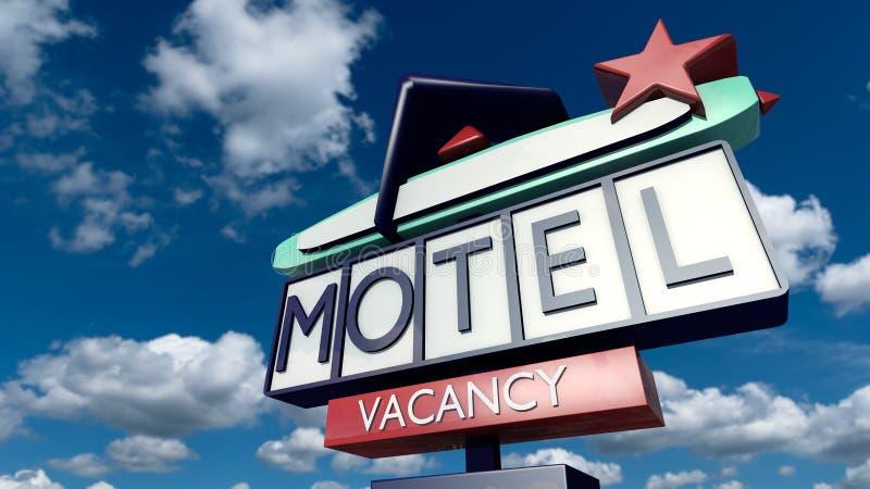 Muestra del vintage de un motel ilustración del vector