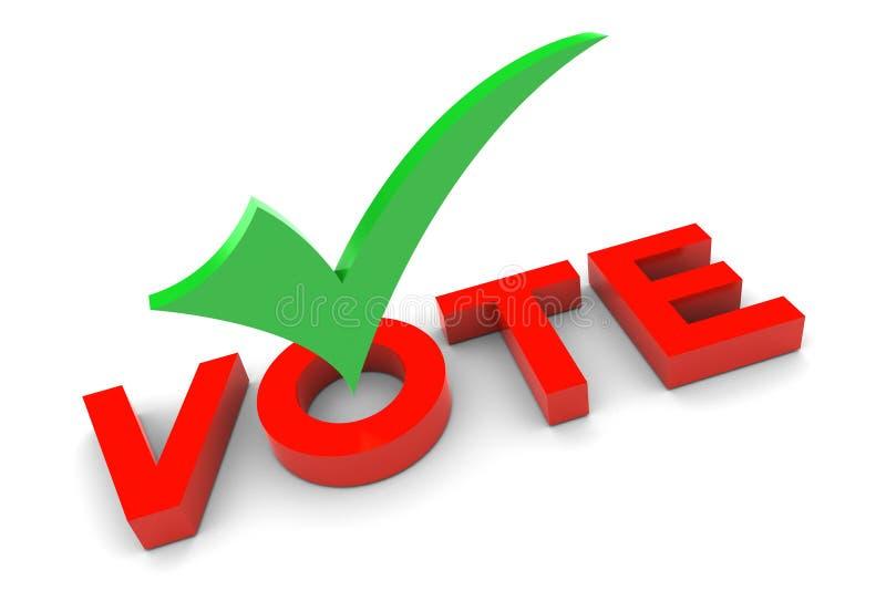 Muestra del voto ilustración del vector