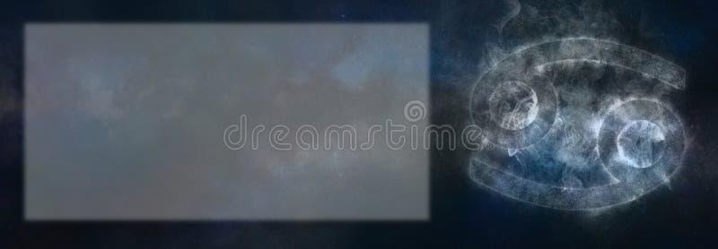 Muestra del zodiaco del cáncer Muestra del horóscopo del cáncer Sitio del texto de la plantilla fotografía de archivo