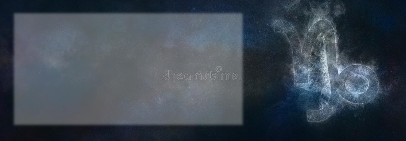 Muestra del zodiaco del Capricornio Muestra del horóscopo del Capricornio Texto r de la plantilla foto de archivo libre de regalías