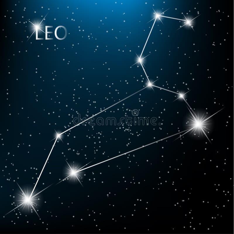 Muestra del zodiaco de Leo stock de ilustración
