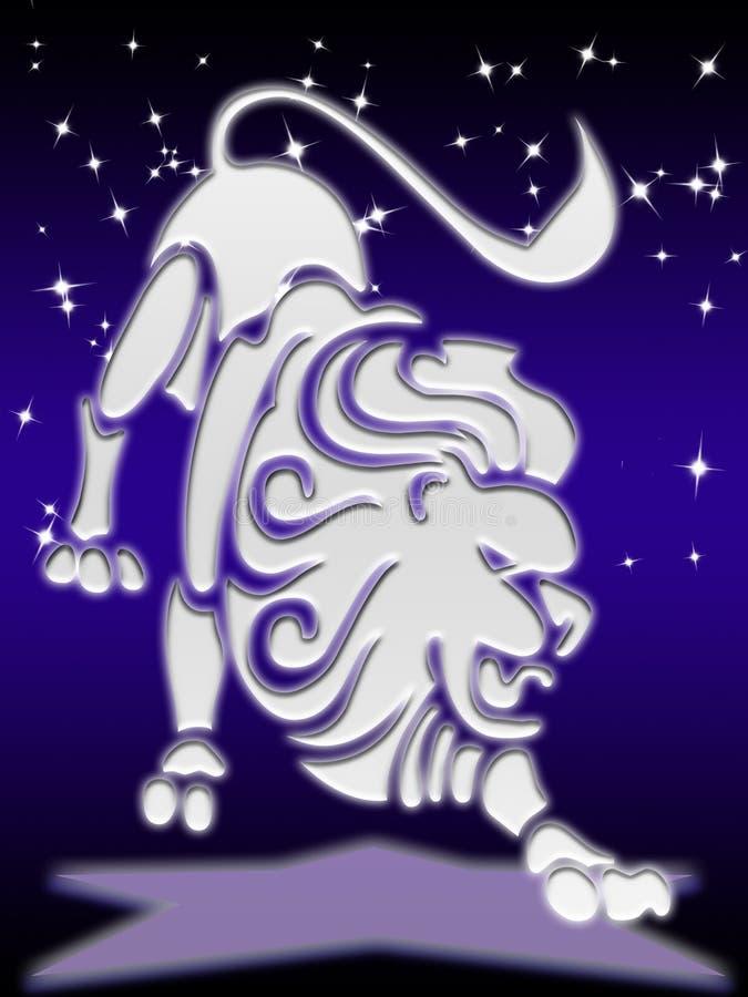 Muestra Del Zodiaco De Leo Foto de archivo libre de regalías