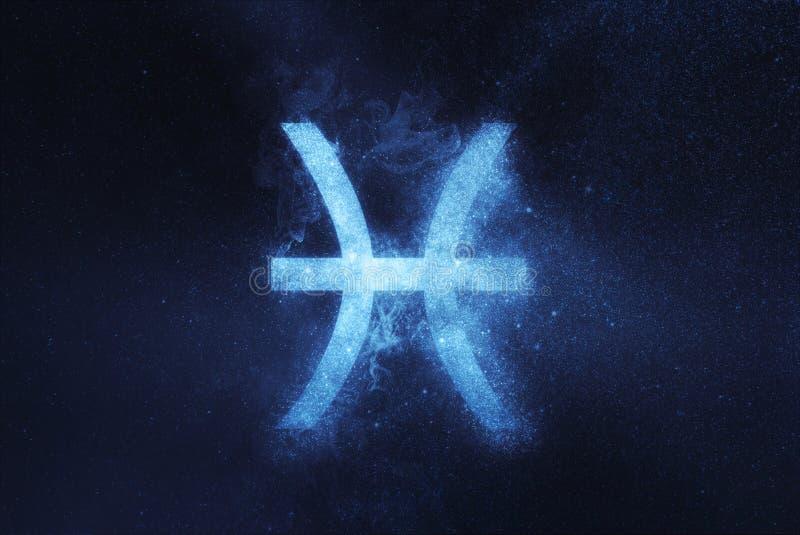 Muestra del zodiaco de Piscis Fondo abstracto del cielo nocturno imagen de archivo
