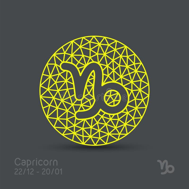 Muestra del zodiaco del Capricornio libre illustration