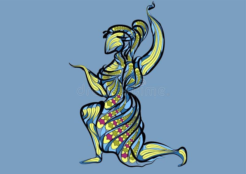 Muestra del zodiaco del virgo stock de ilustración