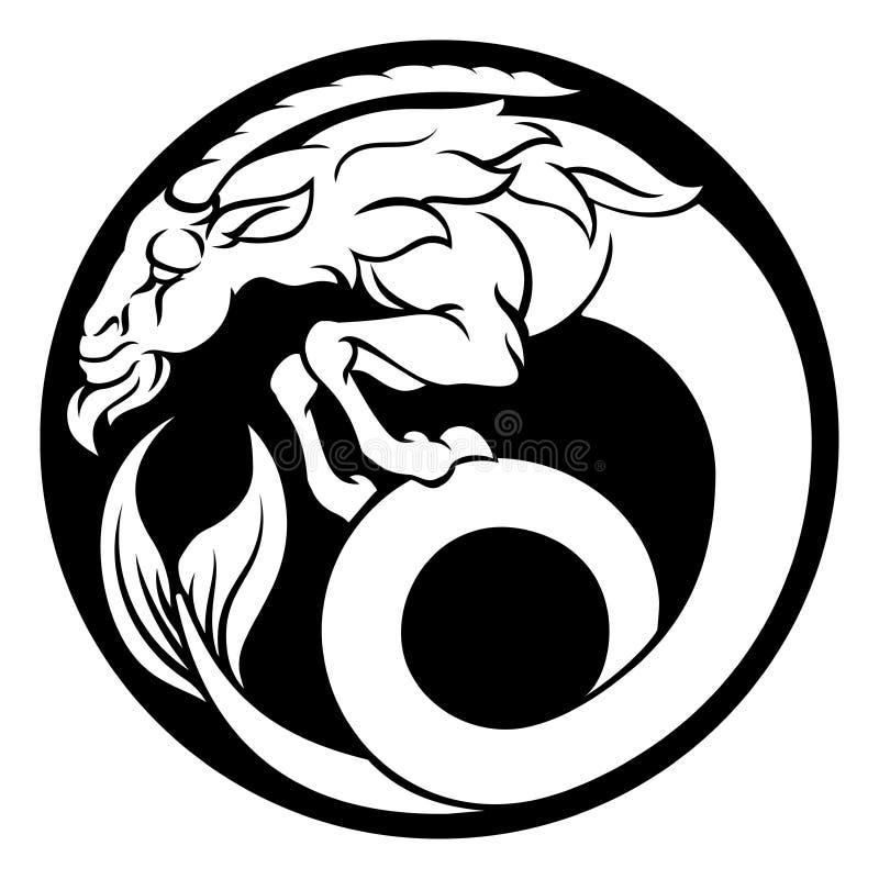 Muestra del zodiaco del horóscopo del Capricornio stock de ilustración