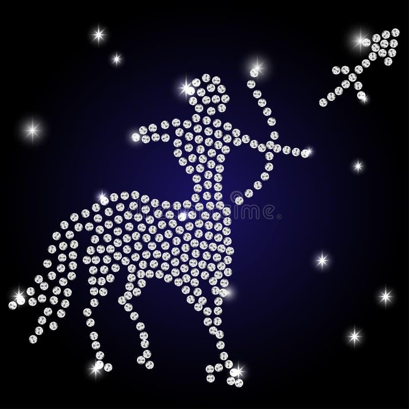 Muestra del zodiaco del sagitario ilustración del vector
