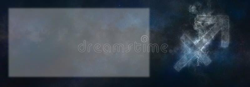 Muestra del zodiaco del sagitario Muestra del horóscopo del sagitario Te de la plantilla imagenes de archivo