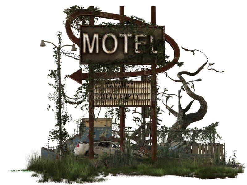 Muestra dilapidada del motel imágenes de archivo libres de regalías