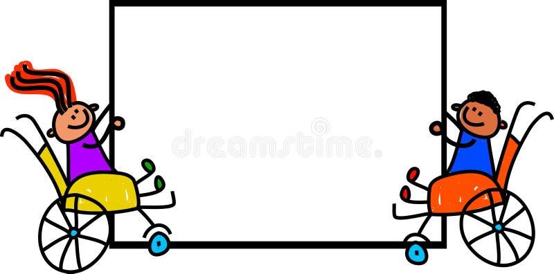 Muestra discapacitada de los niños libre illustration