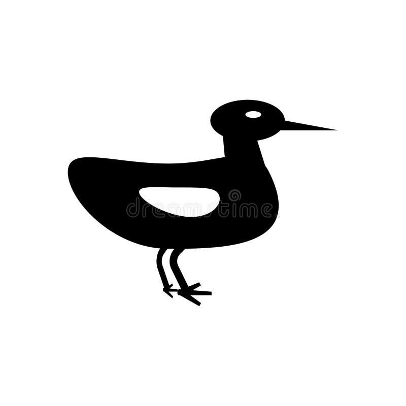 Muestra Ducky y símbolo del vector del icono aislados en el fondo blanco, concepto Ducky del logotipo libre illustration