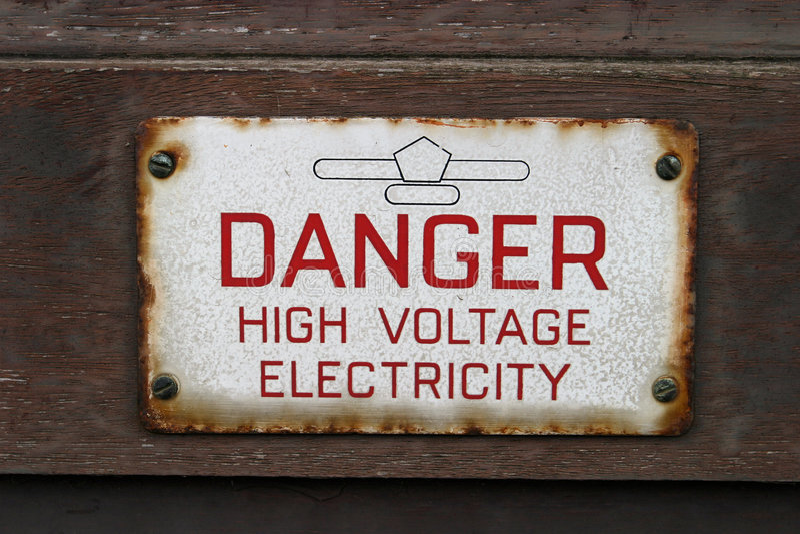Muestra, Electricidad Del Alto Voltaje Del Peligro Fotos de archivo