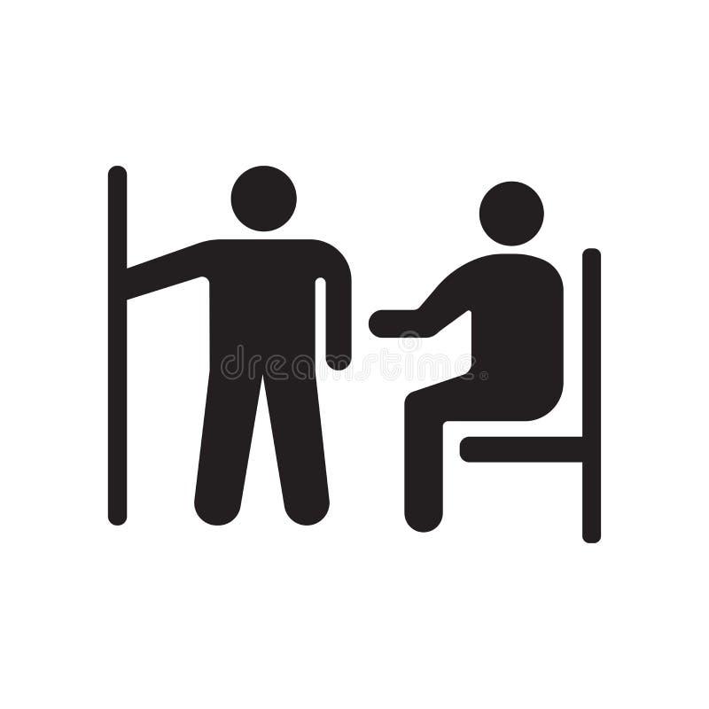 Muestra embarazada y símbolo del vector del icono de la prioridad aislados en el fondo blanco, concepto embarazada del logotipo d stock de ilustración