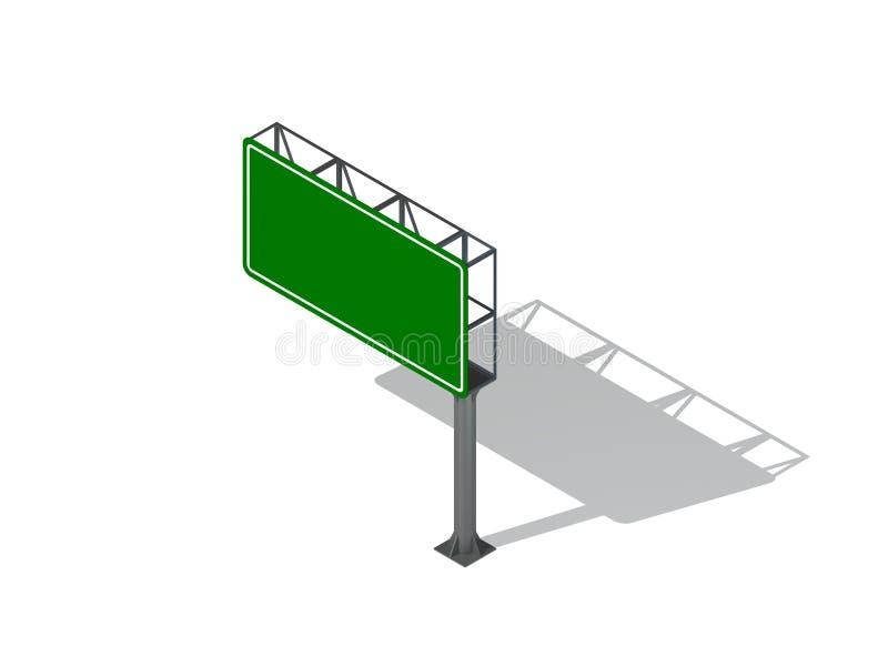 Muestra en blanco de la carretera Aislado en el fondo blanco ilustraci?n de la representaci?n 3d ilustración del vector
