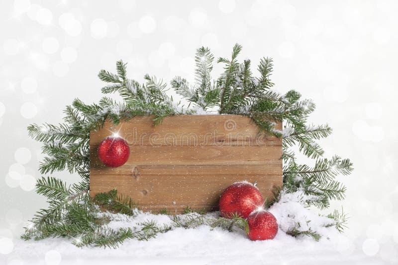 Muestra en blanco de la Navidad foto de archivo