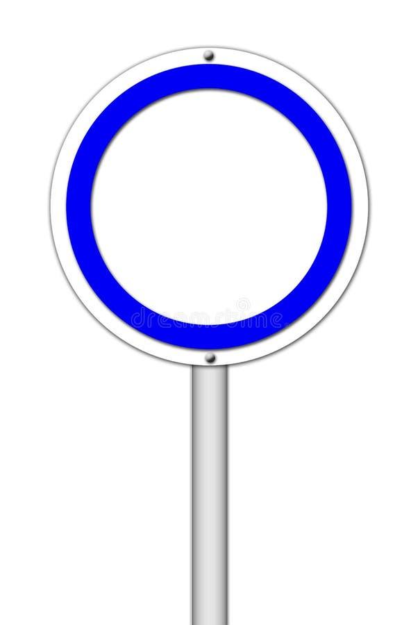 Muestra en blanco del círculo en blanco ilustración del vector