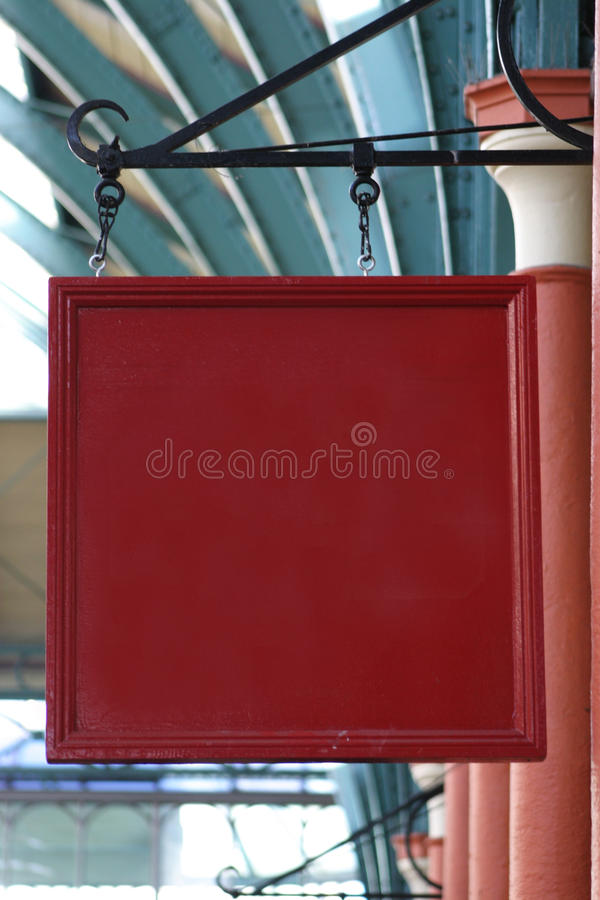 Muestra en blanco del departamento imagen de archivo libre de regalías