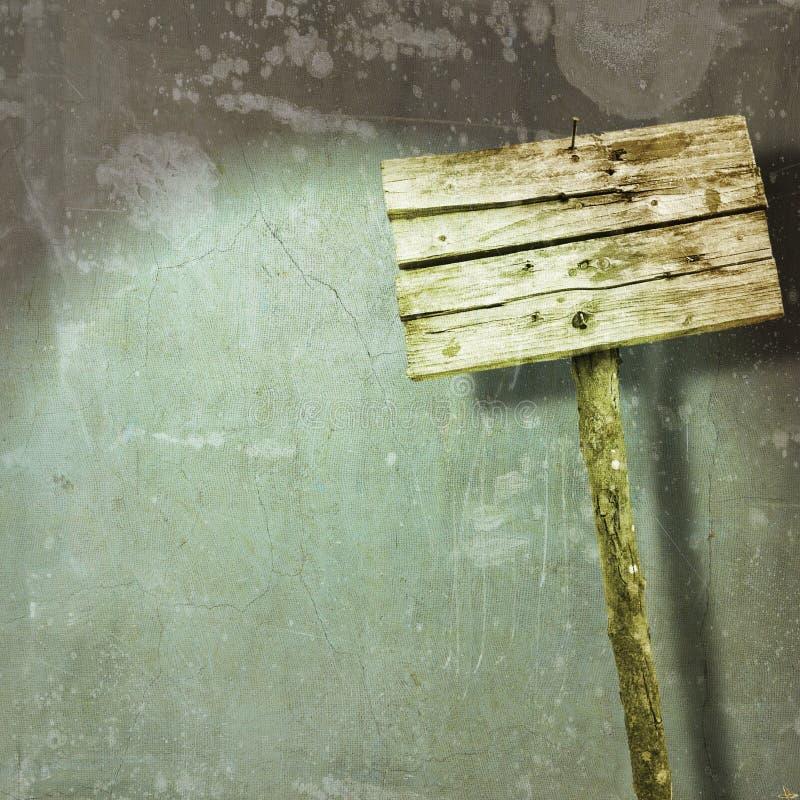 Muestra en blanco y gastada de madera en fondo de la pared del grunge stock de ilustración