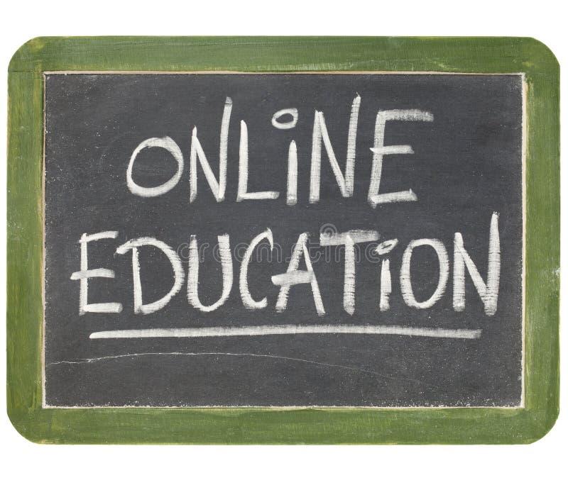 Muestra en línea de la pizarra de la educación fotos de archivo