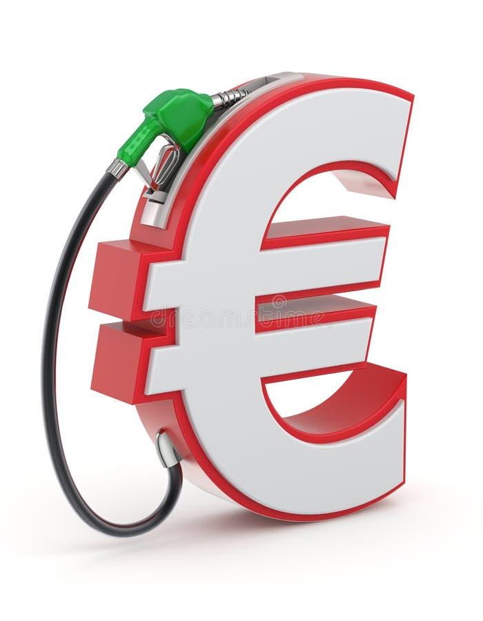 Muestra euro con la boca de gas stock de ilustración