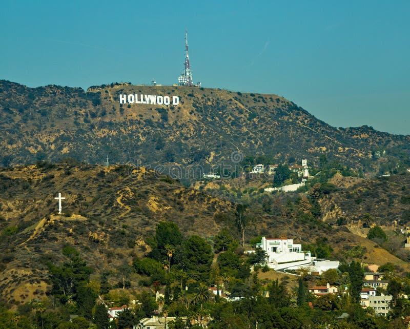 Muestra famosa de Hollywood en la montaña en Hollywood California imagenes de archivo