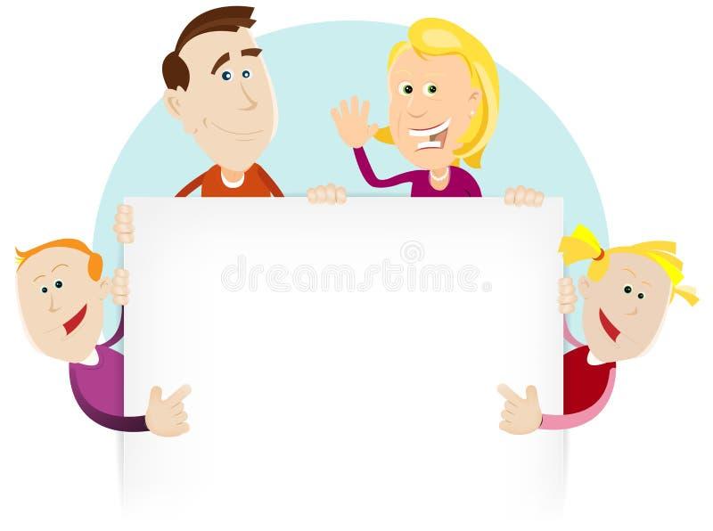 Muestra feliz de la familia stock de ilustración