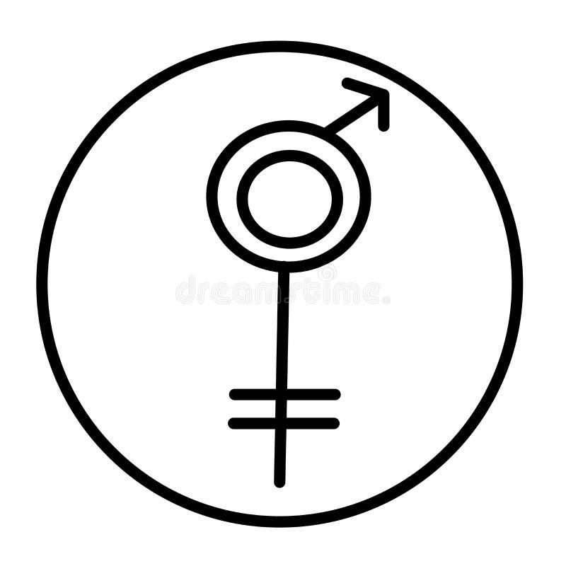 Muestra femenina y símbolo del vector del icono del símbolo aislados en el fondo blanco, concepto femenino del logotipo del símbo ilustración del vector