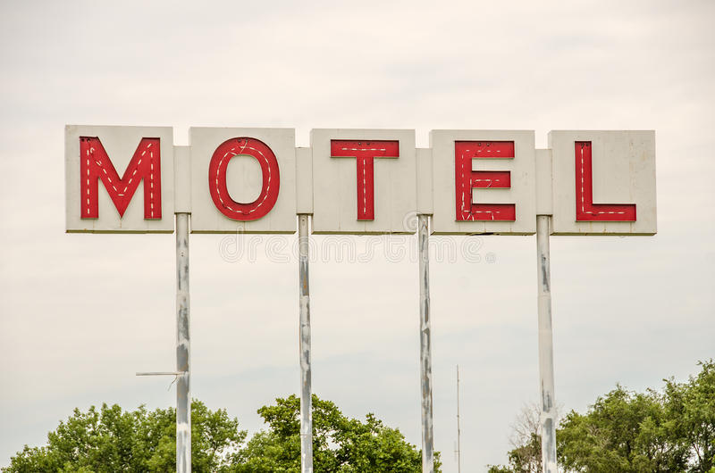 Muestra genérica del motel imagen de archivo