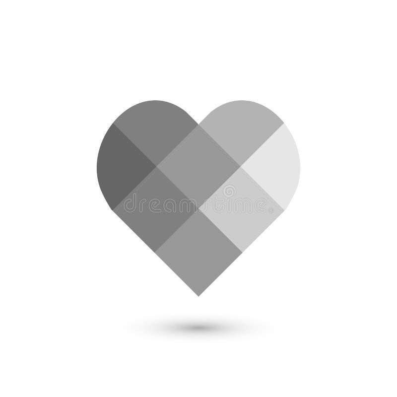 Muestra geométrica del corazón Diseño gráfico de la moda Ilustración del vector Diseño del fondo Ilusión óptica 3D Extracto elega libre illustration
