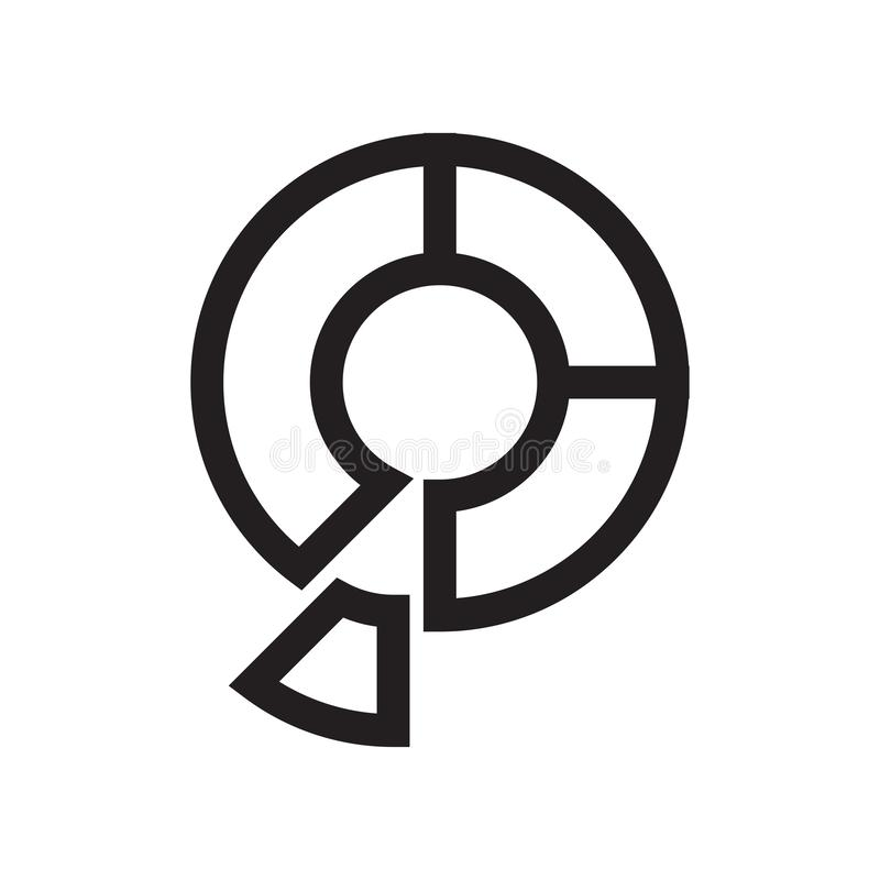 Muestra gráfica y símbolo del vector del icono de la torta aislados en el fondo blanco, concepto gráfico del logotipo de la torta ilustración del vector