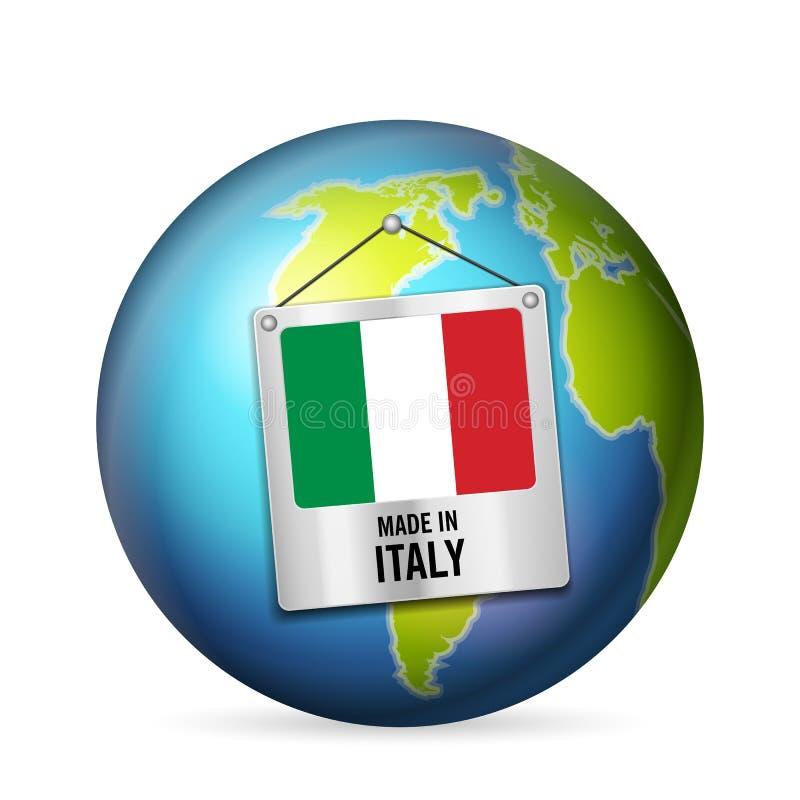 Muestra hecha en Italia stock de ilustración