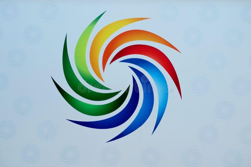 Muestra hermosa de diversos colores brillantes en un fondo blanco libre illustration