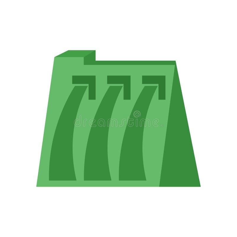 Muestra hidráulica y símbolo del vector del icono del poder aislados en el fondo blanco, concepto hidráulico del logotipo del pod libre illustration
