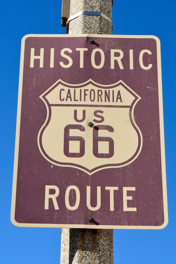 Muestra histórica de Route 66 fotos de archivo
