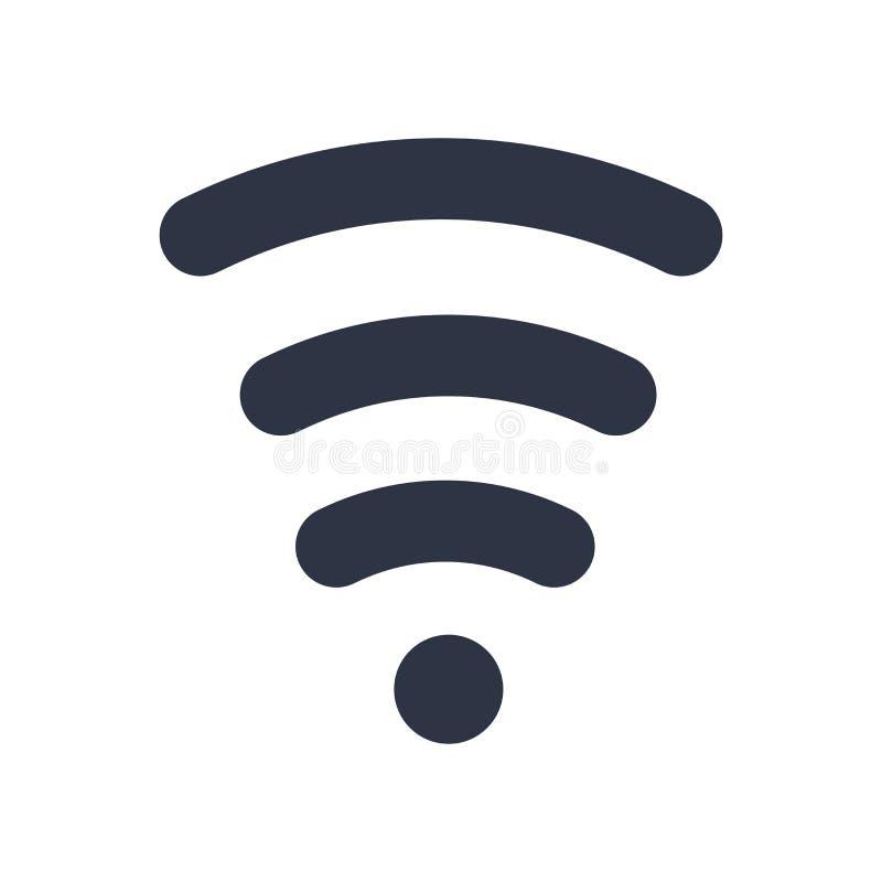Muestra inalámbrica y símbolo del vector del icono aislados en el fondo blanco, concepto inalámbrico del logotipo libre illustration