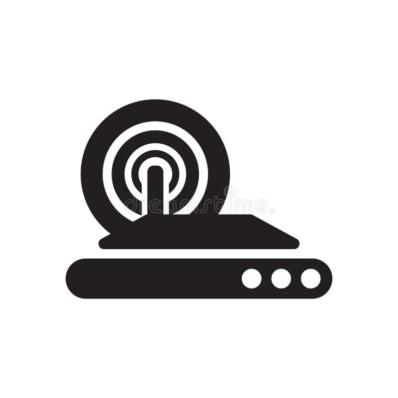 Muestra inalámbrica y símbolo del vector del icono de Internet aislados en el fondo blanco, concepto inalámbrico del logotipo de  ilustración del vector