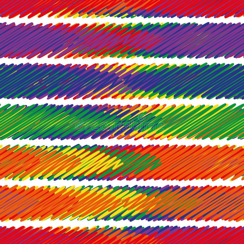 Muestra inconsútil - el extracto sombreó tiras multicoloras ilustración del vector
