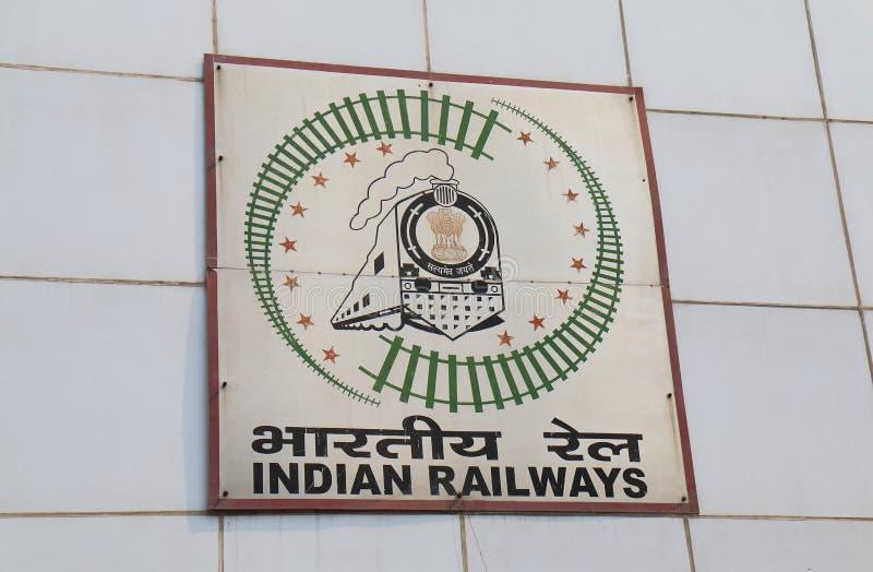 Muestra india la India del tren de los ferrocarriles imagen de archivo