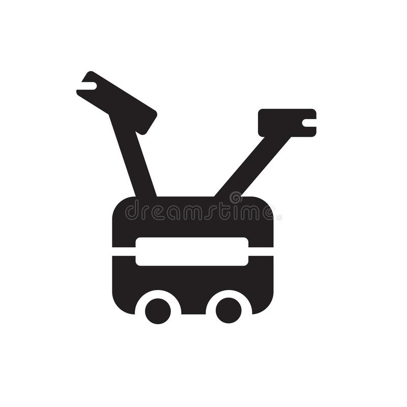 Muestra inmóvil y símbolo del vector del icono de la bici aislados en el fondo blanco libre illustration