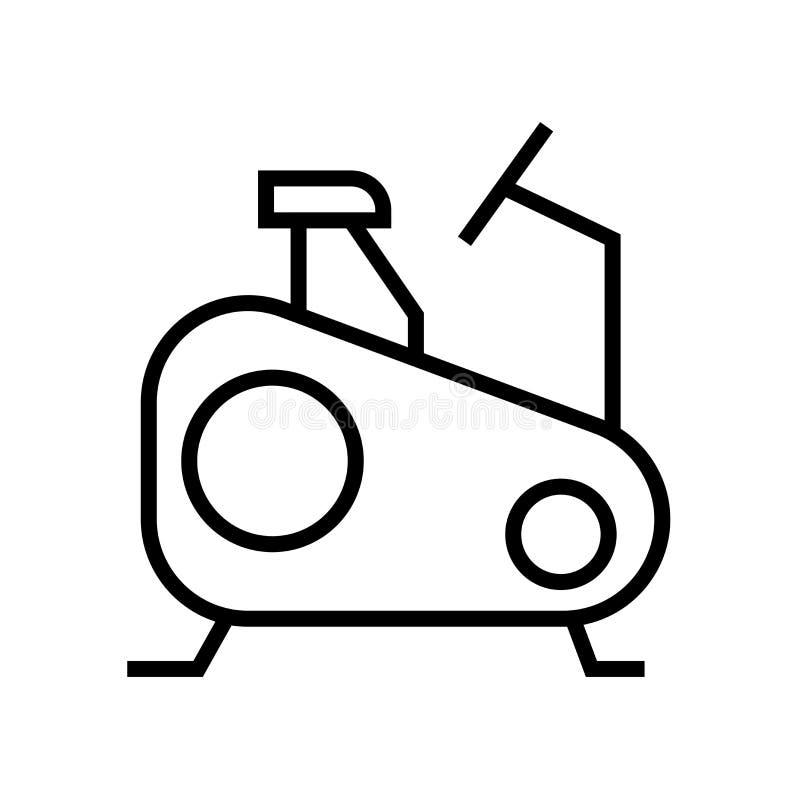 Muestra inmóvil y símbolo del vector del icono de la bici aislados en el fondo blanco, concepto inmóvil del logotipo de la bici ilustración del vector