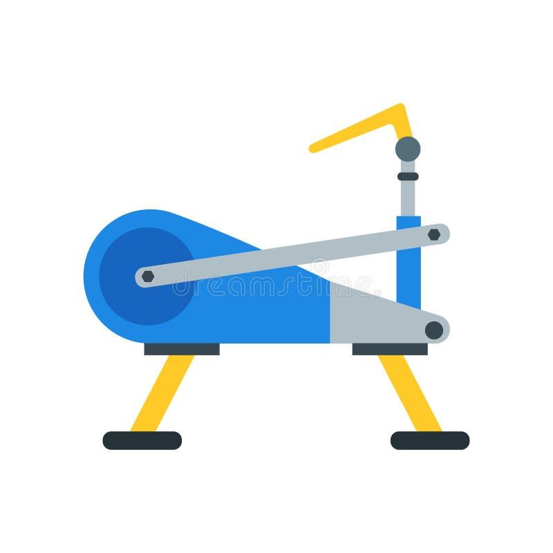 Muestra inmóvil y símbolo del vector del icono de la bici aislados en los vagos blancos ilustración del vector