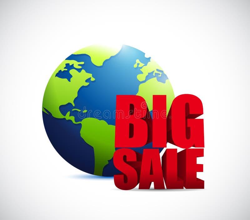 Muestra internacional del negocio del globo de la venta grande libre illustration