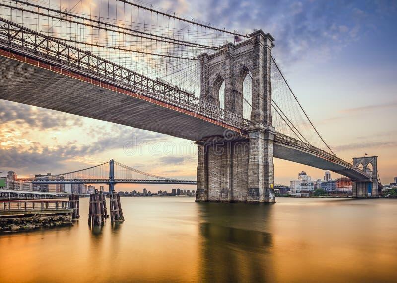 Muestra, ladrillos, cerca del puente de Brooklyn fotografía de archivo libre de regalías