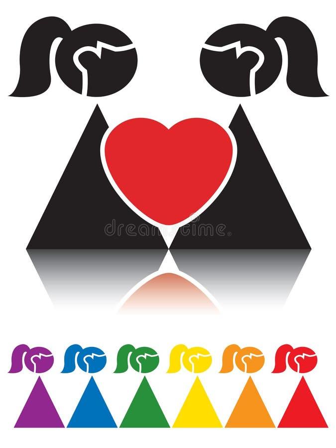 Muestra lesbiana ilustración del vector