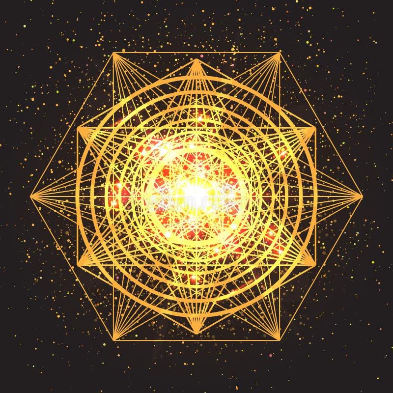 Muestra mágica de la geometría Geometría sagrada abstracta libre illustration
