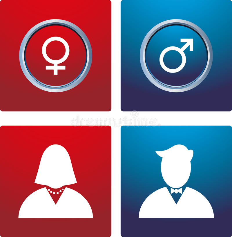 Muestra masculina y femenina ilustración del vector